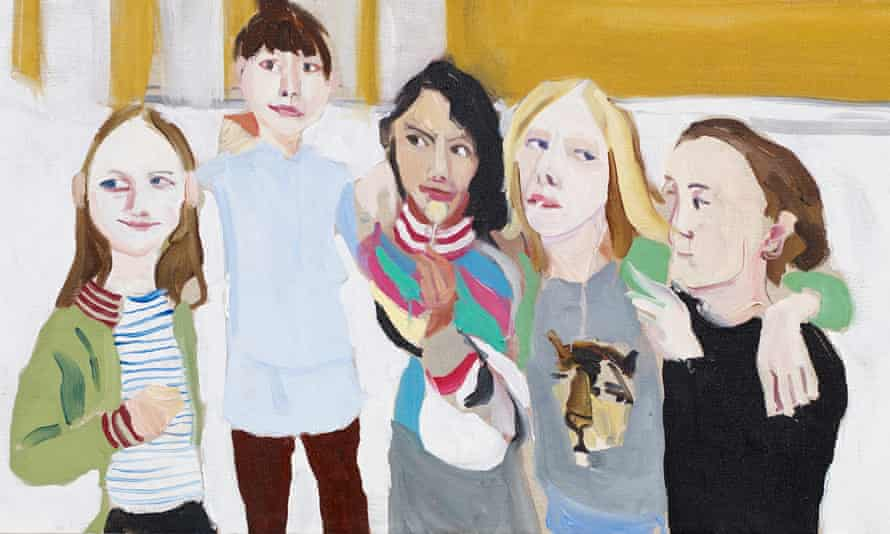 detail from Poppy, Esme, Oleanna, Gracie and Kate, 2014, by Chantal Joffe.