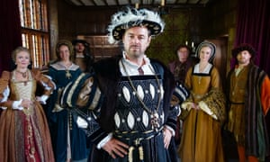 King for a day … Danny Dyer romps through history.
