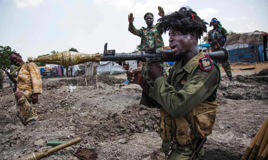 SPLA soldiers near Malakal