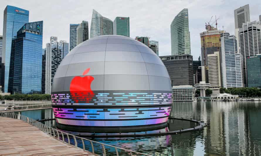 Apple's first floating store, which is in Singapore.