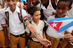 Cuban schoolboys