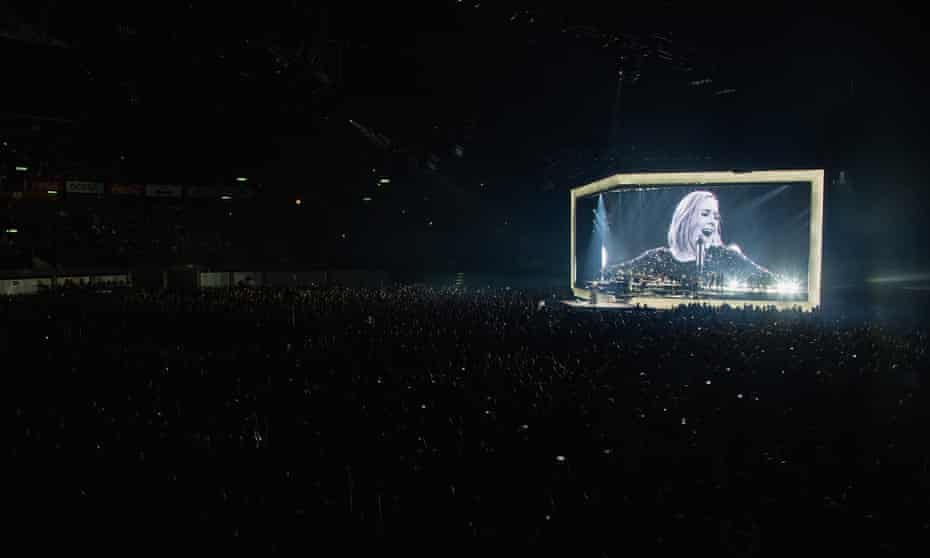 Adele plays live in Mexico City.