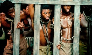 A scene from pioneering TV series Roots, which told the story of Kunta Kinte, a slave captured in Africa and brought to America