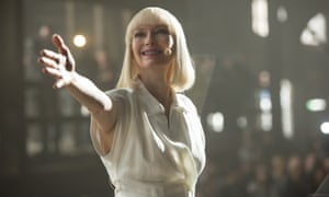 Tilda Swinton in the Netflix film Okja, directed by Bong Joon-ho. Audiences booed the Netflix logo when it was shown at the Cannes film festival in 2017.