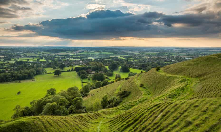 the Blackmore Vale from Hambledon iron age hillfort.