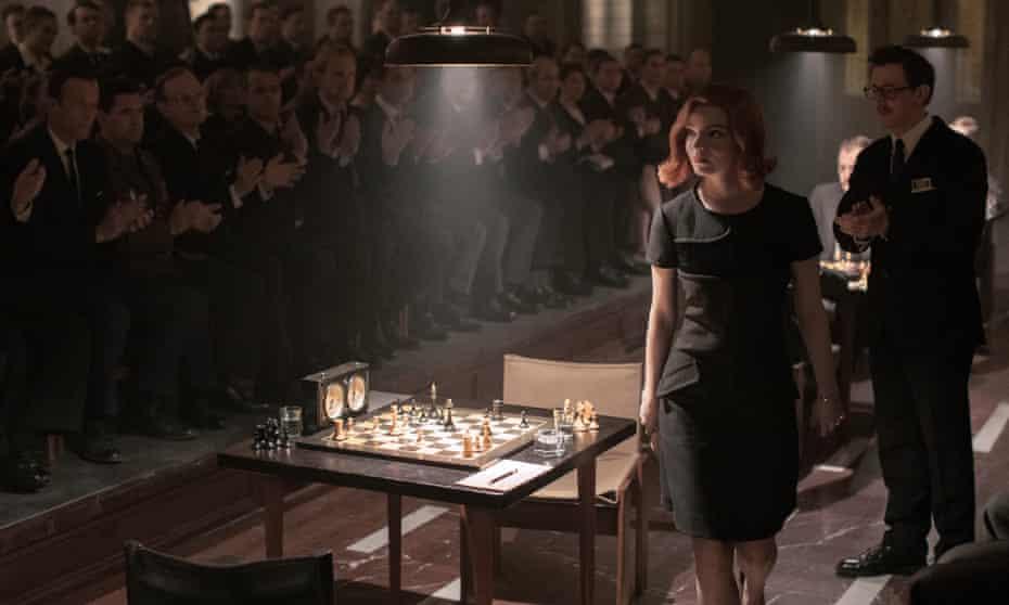 Anya Taylor-Joy as Beth in The Queen's Gambit.