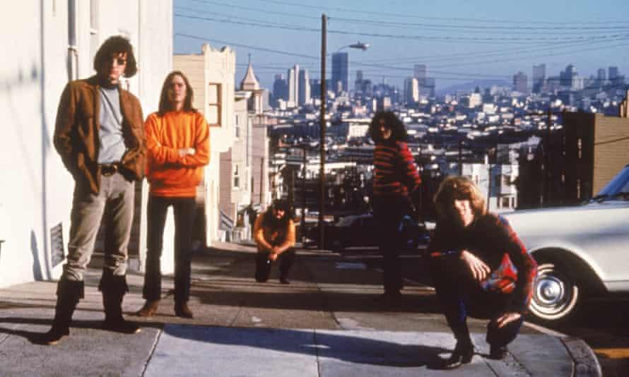 The Grateful Dead on 20th and Connecticut in Potrero Hill, San Francisco, California, 1960s.