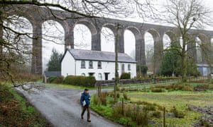 The railway viaduct at Cynghordy in Carmarthenshire.