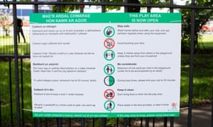 A safety notice at Jubilee Park