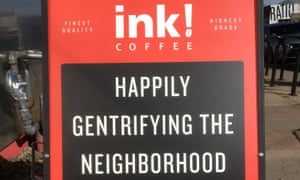 A detail of the front of the ink! sidewalk sign.