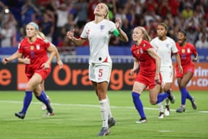 England's Steph Houghton reacts after she missed her penalty.