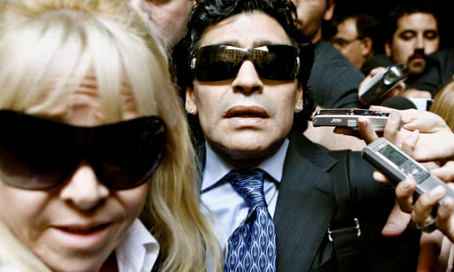 Diego Maradona with his ex-wife Claudia Villafane in Buenos Aires, Argentina, in 2008.
