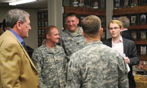 With Richard Holbrooke (yellow jacket) and top brass in Kabul, 2010.