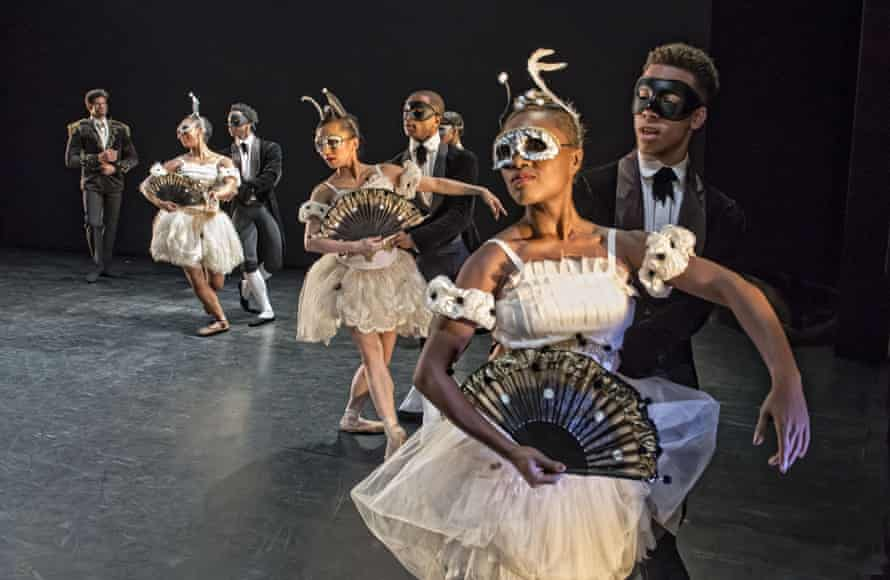 Kenneth MacMillan's Laiderette, left, performed by the Viviana Durante Company at the Barbican.