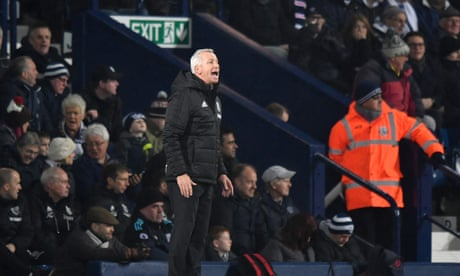 Alan Pardew frustrated as West Brom draw a blank against Crystal Palace