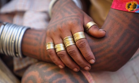 'I don't like it': India's tattoo girls reject branding ritual – in pictures