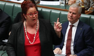 Melissa Price speaks in parliament house before the election was called and she stopped giving interviews.