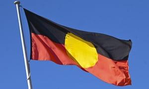 TheAustralian Aboriginal flag.