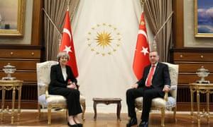 Theresa May with President Erdoğan in Ankara