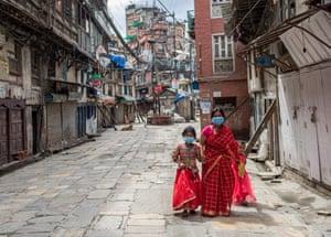 Kathmandu: Women walk to worship Lord Shiva to mark the Teej festival