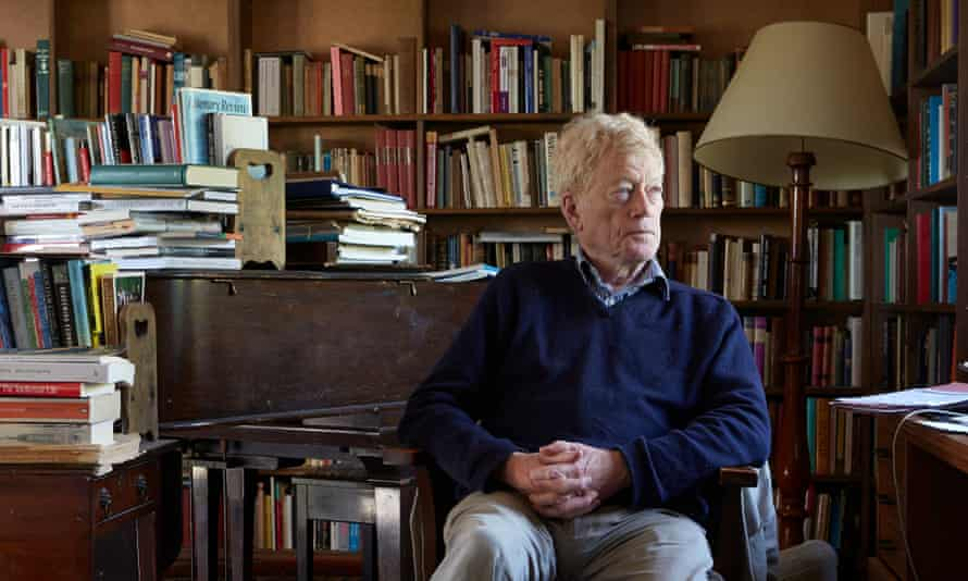 Philosopher and writer Roger Scruton at home in 2015.
