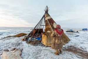 A huge part of the Nentsy's adaptation to life on the tundra lies in the ingenious design of the chum, the traditional tepee structure that they live in. Withstanding frost, heavy snow storms and strong winds, it keeps the family safe and comfortable in all imaginable elements.