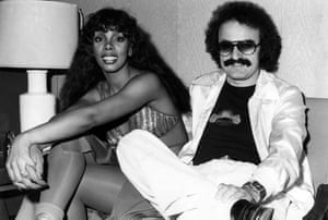 Donna Summer with Giorgio Moroder in 1976