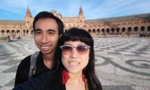 Kristy Shen and Bryce Leung during their travels.