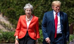 Theresa May and Donald Trump at Chequer