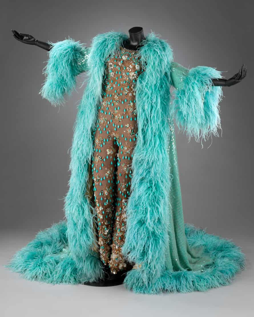 The costume Shirley Bassey wore on the cover of the Diamonds Are Forever record.