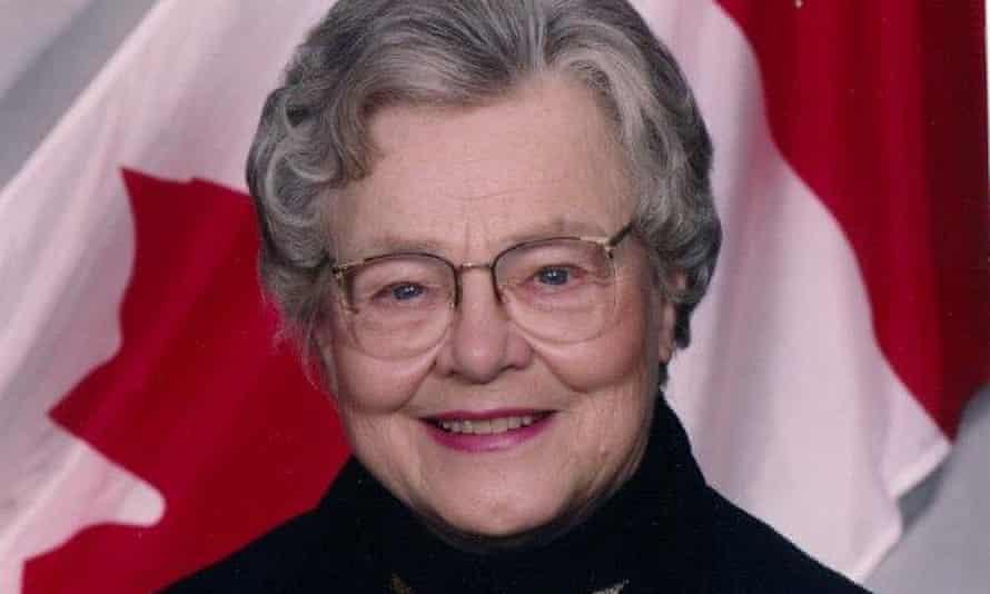 Ione Christensen, former Canadian senator, in 1999.