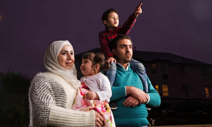 Muhannad Helmi, his wife, Raghad Al Barkawi and their children, Qamar and Naeem, are among the Syrian refugees helping to stimulate the economy of Bute.