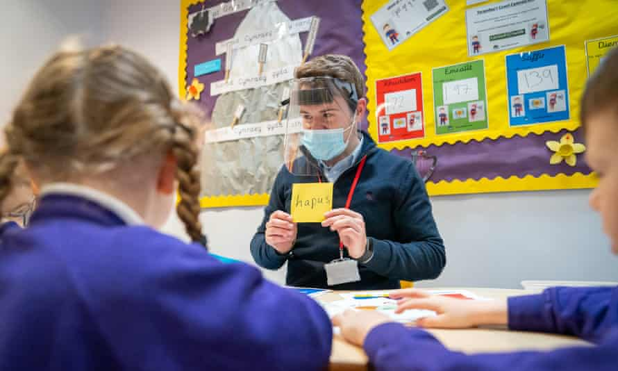 Teaching assistant Gethin Bickerton at Ysgol Glan Morfa in Splott, Cardiff.