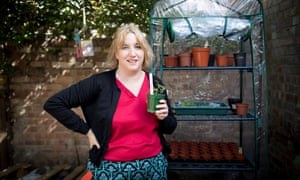 Carla Francome, who is part of a local group sharing seeds in Bounds Green, north London.