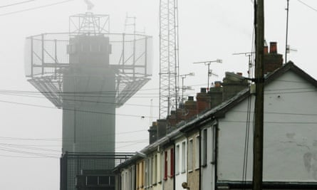 The highly fortified police station in the border village of Crossmaglen, Northern Ireland, in 2005. 'Given that the border could not be secured with army watchtowers during the Troubles, it is not at all clear how a new policing operation will work.'
