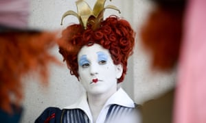 Lorraine Ouellette, a member of the League of Hatters, on day one of Comic-Con International.