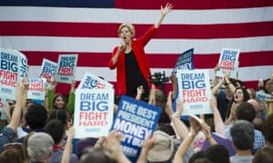Democratic presidential candidate Sen. Elizabeth Warren, D-Mass., addresses a campaign rally at George Mason University in Fairfax, Va., Thursday, May 16, 2019. (AP Photo/Cliff Owen)