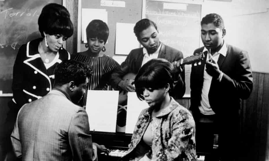 Symphony under construction: Holland Dozier Holland in the studio with the Supremes.