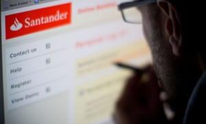 Santander online internet web site