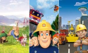 Peter Rabbit, Fireman Sam and Bob the Builder.