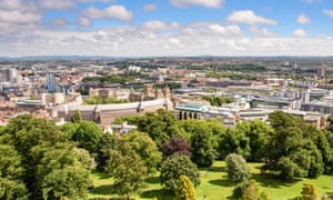 A view over Bristol in summer