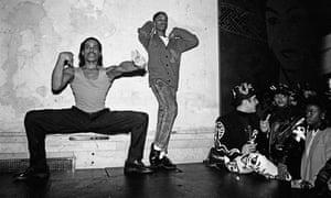 Willi Ninja (left) and dancer voguing at nightclub Mars in 1988 in New York City.