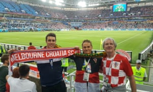 Australian Croatia fans at the World Cup in Russia.