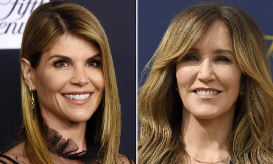 Lori Loughlin, left, in February 2018, and Felicity Huffman, right, in September 2018. The actors are among 50 charged in the case.
