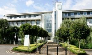 The Berril building at the Open University's Milton Keynes campus.