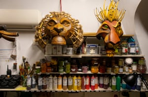 Backstage in the masks and puppets department