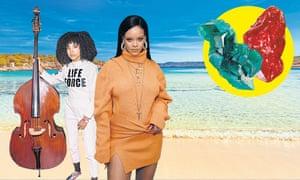 Life's a beach … Esperanza Spalding and Rihanna.
