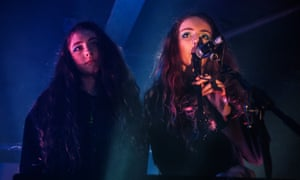 Jenny Hollingworth and Rosa Walton of Let's Eat Grandma performs at Electrowerkz.