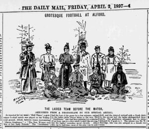The Hull Daily Mail of 2 April 1897 features a sketch of a team including Emma Clarke and, it is thought, her sister Jane.