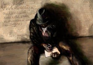 AM Fernando, the Lone Protestor by Daryl Ciubal, depicting Anthony Martin Fernando, an Australian Indigenous political activist in Britain and continental Europe in the early 20th century.